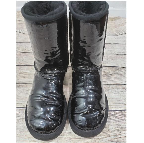 UGG Shoes | Uggs Black Shiny Eva Patent